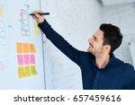 designer prototyping mobile...   Shutterstock . vector #657459616