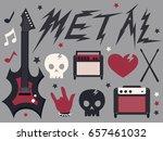 illustration of metal music... | Shutterstock .eps vector #657461032