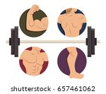 illustration of male muscles in ... | Shutterstock .eps vector #657461062