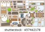icons set of interior  top view.... | Shutterstock .eps vector #657462178