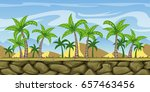 seamless cartoon nature... | Shutterstock .eps vector #657463456
