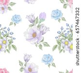 floral seamless pattern with... | Shutterstock .eps vector #657467332