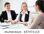 Small photo of Businesspeople in a meeting at office