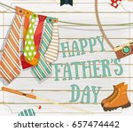 happy father's day greeting... | Shutterstock .eps vector #657474442