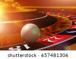 roulette ball wheel play. 3d... | Shutterstock . vector #657481306