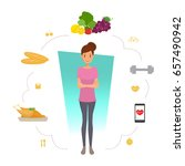 woman healthy lifestyle... | Shutterstock .eps vector #657490942
