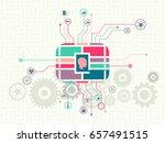 data technology and machine... | Shutterstock .eps vector #657491515
