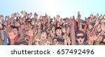 illustration of festival crowd... | Shutterstock .eps vector #657492496