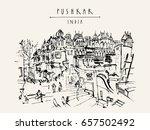 pushkar  rajasthan  india. old... | Shutterstock . vector #657502492
