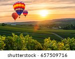 colorful hot air balloons... | Shutterstock . vector #657509716