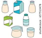 vector set of milk | Shutterstock .eps vector #657513478