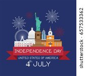 4th of july independence day... | Shutterstock .eps vector #657533362
