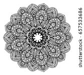 mandalas for coloring book.... | Shutterstock .eps vector #657533686