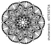 mandalas for coloring book.... | Shutterstock .eps vector #657533716