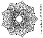 mandalas for coloring book.... | Shutterstock .eps vector #657533722
