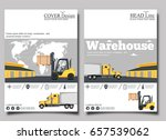 warehouse banner with forklift... | Shutterstock .eps vector #657539062