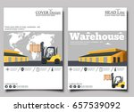 warehouse banner with forklift... | Shutterstock .eps vector #657539092