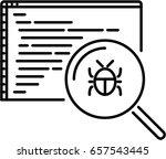 bug outline icon | Shutterstock .eps vector #657543445