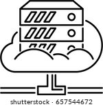 cloud server outline icon | Shutterstock .eps vector #657544672