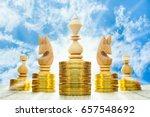 king chess put on high gold... | Shutterstock . vector #657548692