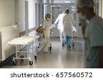 Small photo of City Gomel, Belarus.May 31, 2017 Gomel medical hospital.Hospital corridor hospital