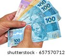 brazilian money bills  real ... | Shutterstock . vector #657570712