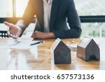 business man waiting signing... | Shutterstock . vector #657573136