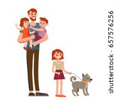 cartoon characters of family.... | Shutterstock .eps vector #657576256