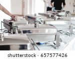 catering food for wedding buffet | Shutterstock . vector #657577426
