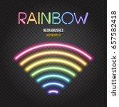 glowing neon lights brushes in... | Shutterstock .eps vector #657582418