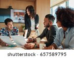 group of young business people... | Shutterstock . vector #657589795