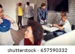 business team   meeting ...   Shutterstock . vector #657590332