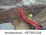 underground utility and... | Shutterstock . vector #657591136