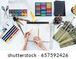 artist drawing graphic sketch... | Shutterstock . vector #657592426