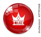 quiz crown icon   Shutterstock .eps vector #657592468