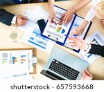 business people sitting and... | Shutterstock . vector #657593668