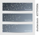 set of horizontal banners.... | Shutterstock .eps vector #657595006