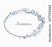 beautiful oval simple... | Shutterstock .eps vector #657596362