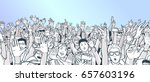 illustration of festival crowd...