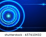 abstract technology background... | Shutterstock .eps vector #657610432
