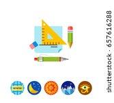 homework flat icon | Shutterstock .eps vector #657616288