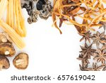 various spices on a white... | Shutterstock . vector #657619042