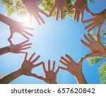 people hands together | Shutterstock . vector #657620842
