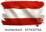 austria flag background with... | Shutterstock . vector #657633766