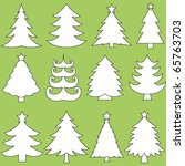 collection of christmas trees | Shutterstock .eps vector #65763703