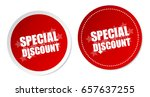 special discount stickers | Shutterstock .eps vector #657637255