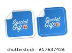 special gift stickers | Shutterstock .eps vector #657637426