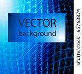 blue stylish fantasy background | Shutterstock .eps vector #65763874
