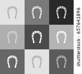 horseshoe sign illustration.... | Shutterstock .eps vector #657641896