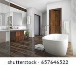 3d rendering wood and tile... | Shutterstock . vector #657646522